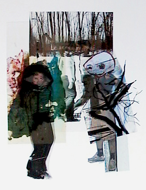 loin du long sentier 2005 mixtes/papier 43x38cm