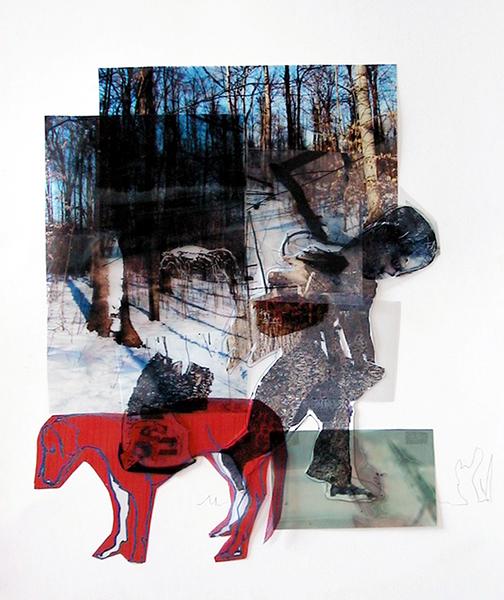 odeur du bout du bois 2005 mixtes/papier 43x38cm