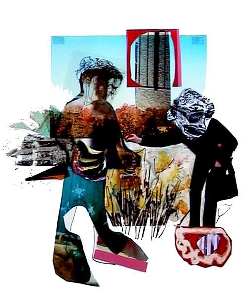 herbes hautes 2005 mixtes/papier 43x38cm