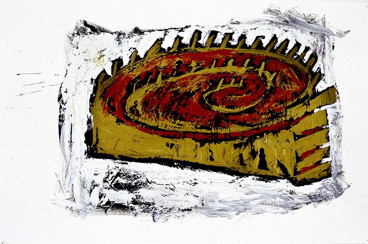 dessin1 1993acrylique/papier 99 x 66cm