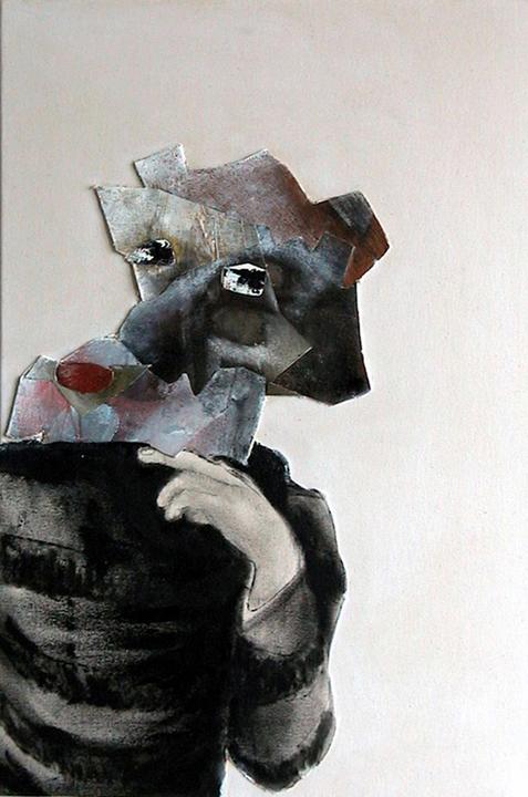 entre chien et loup 2013 huile/toile 58x39cm