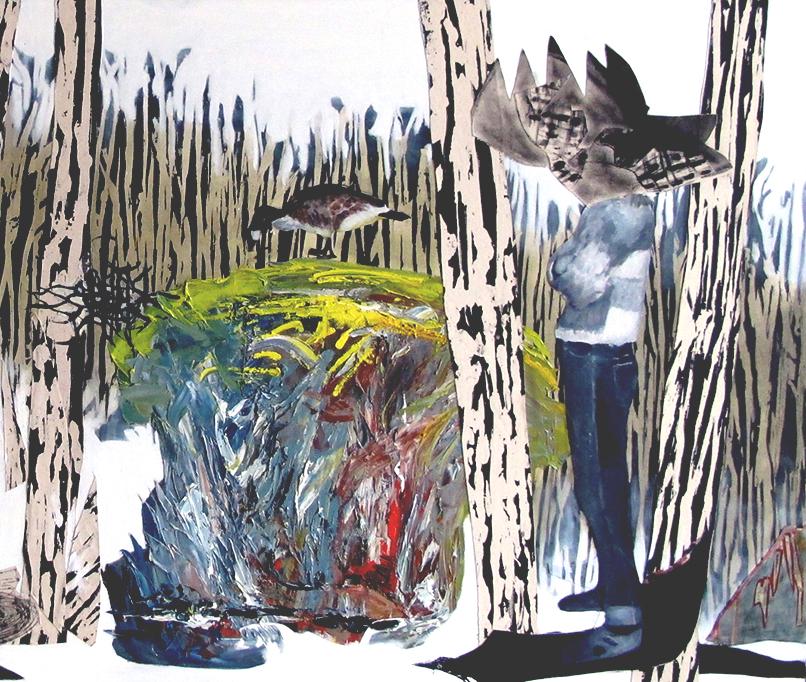 la forêt section 2 2017huile/acrylique/toile 102x108cm