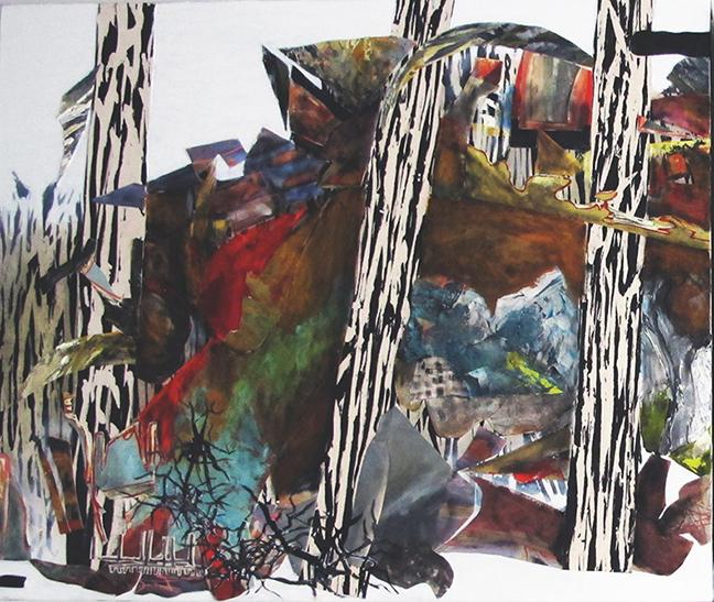 la forêt section 3 2017huile/acrylique/toile 102x108cm