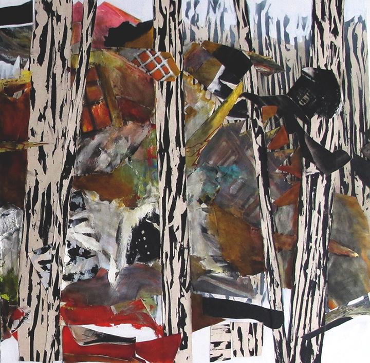 la forêt section 4 2017huile/acrylique/toile 102x108cm
