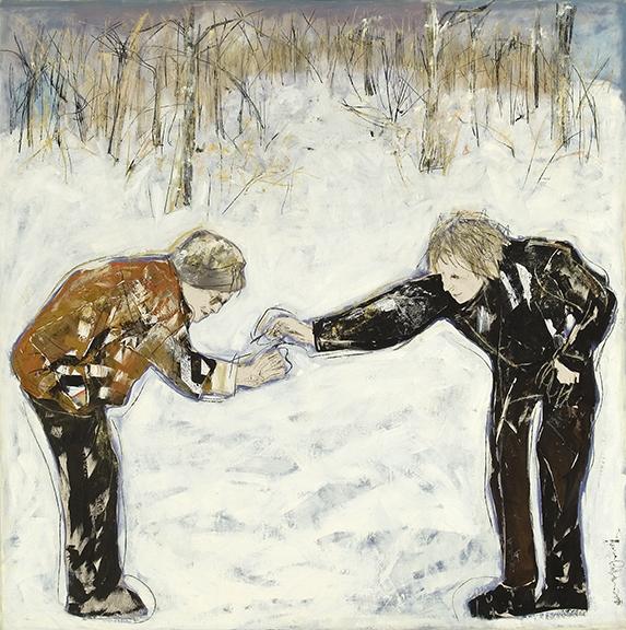 hiver 2005 huile/toile 182x182cm