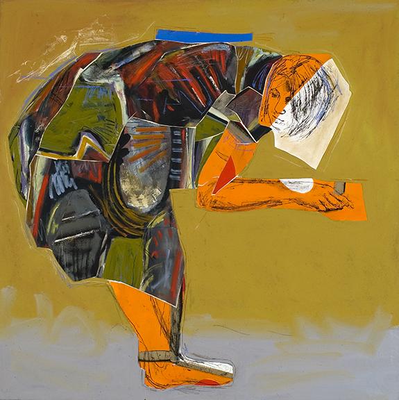 la mère 2005 huile/toile 121x121cm