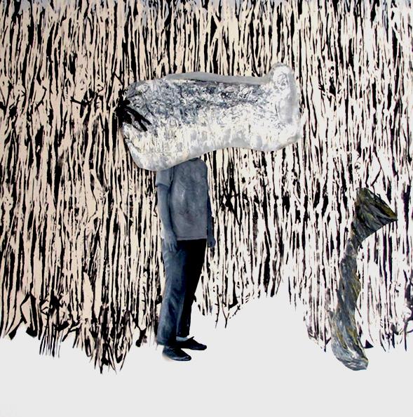 le champs 2017 huile/acrylique/toile 180x180cm