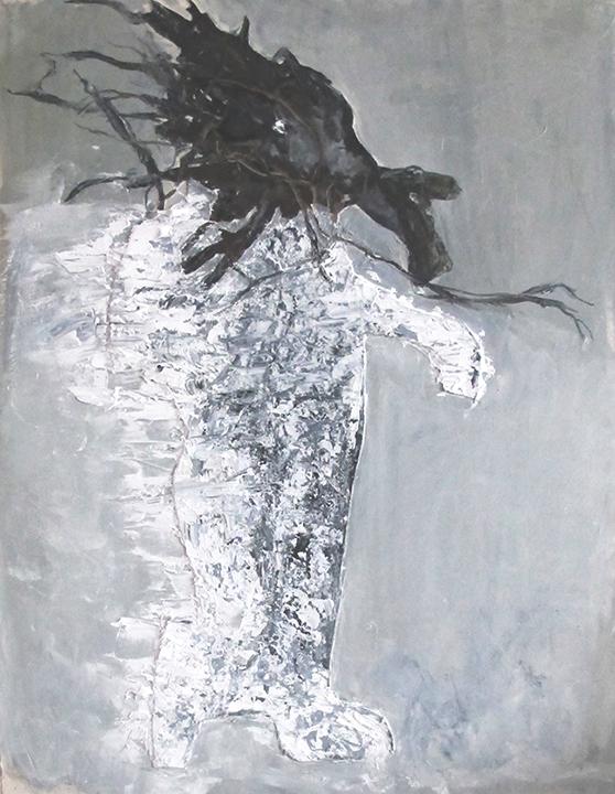 le vent 2014 huile/ toile 96x60cm