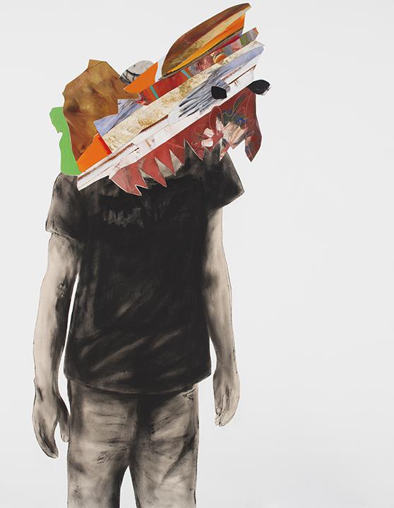 les choses de la terre 2014 huile/acrylique/toile 152x121cm