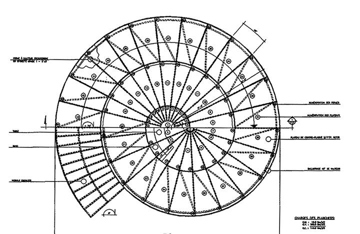 plan vortex Diamètre 9,75m x Hauteur 2,74m