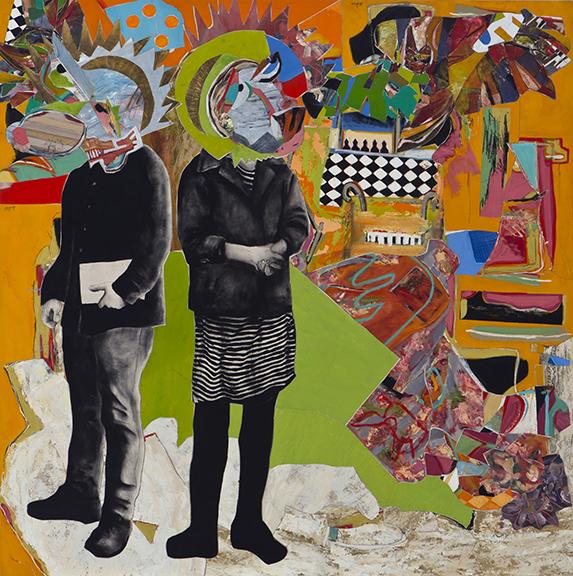une admiration 2012  huile/toile collage toile/toile181x181cm